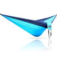 Cama cadeira de balanço ao ar livre 2 pessoas portátil parachute hammock