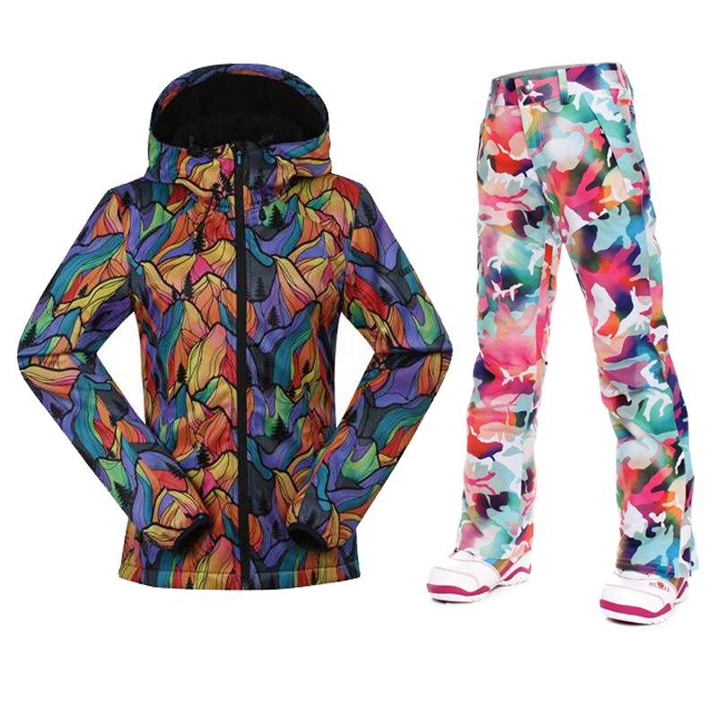 Best Quality waterproof jacket Gsou snow ski suit womens snowboard ...