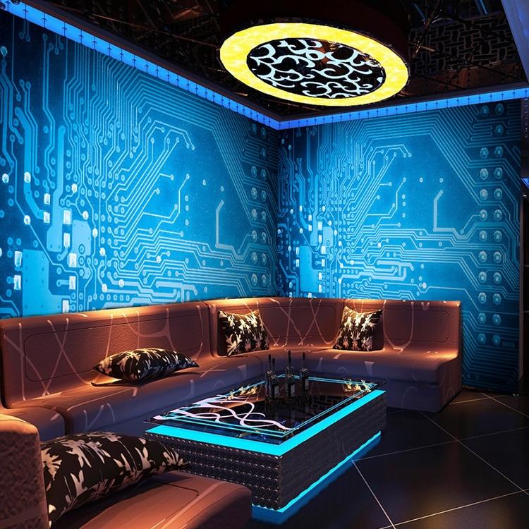 free shipping metallic blue circuit board large murals ktv bar rh aliexpress com Circuit Board Tattoo Circuit Board Tree