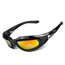 Tactical Men Cycling Glasses Outdoor Sports Fishing Cycling Sunglasses Windproof MTB Eyewear 4 Lenses