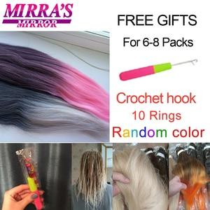 Image 5 - ミラのミラー簡単事前延伸ジャンボ組紐髪オンブル編組毛延長合成かぎ針髪