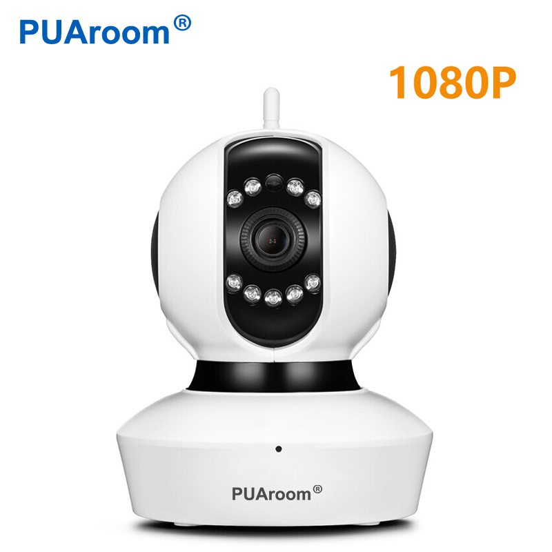 PUAroom 1080P Surveillance CCTV Wireless Security IP Camera WiFi Network Pan Tilt Zoom PTZ for home security Camera