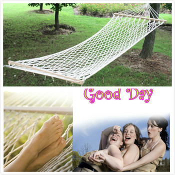 Hot sellingoutdoor travel club indoor mesh hammock single swing thicker bold strong, more meticulous workmanship