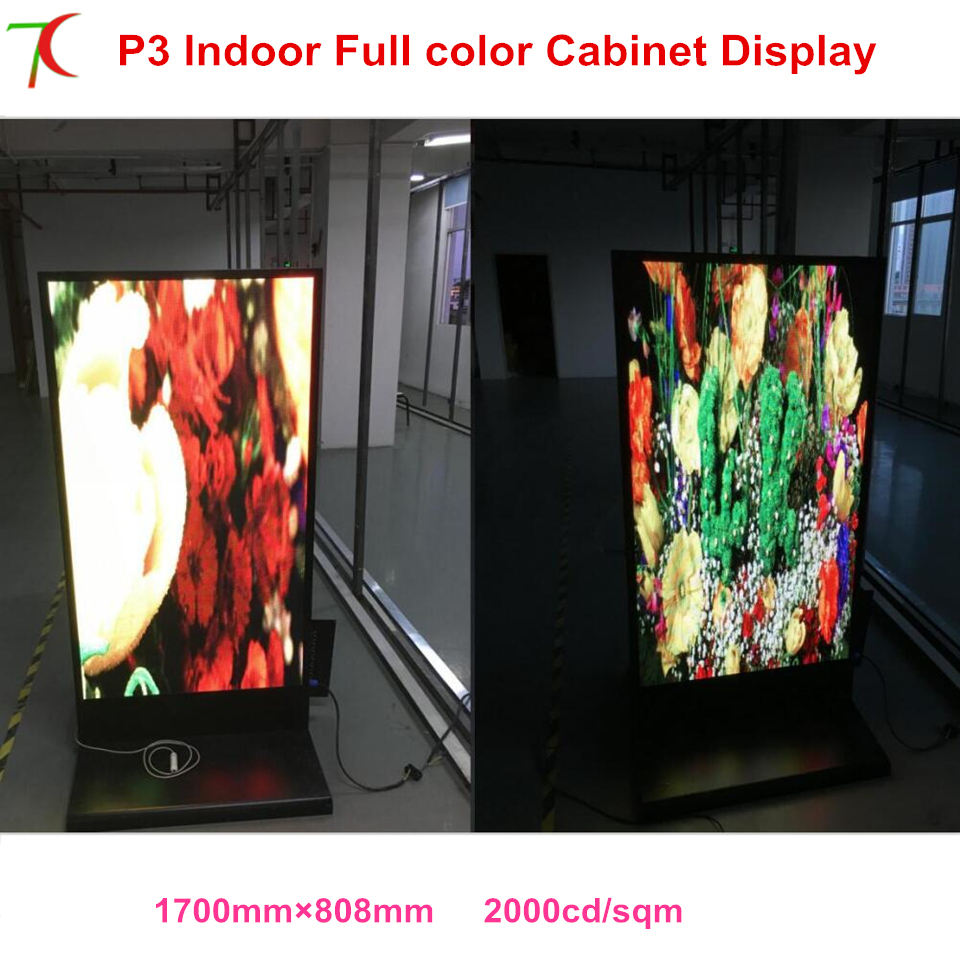 SMD 2121 Led Video Panel Indoor Cabinet Advertisement Machine Led Display Customized Poster