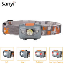 Mini 4 Mode Waterproof 800Lm R3+2 LED Headlight Flashlight Super Bright Headlamp Head Torch Camping Lanterna with Headband(China)