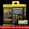 Nitecore i4 i2 Digicharger D4 D2 LCD Circuito Inteligente Seguro Global de 18650 14500 16340 26650 Li-ion Carregador de Bateria