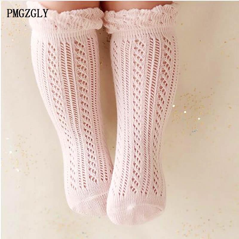 Chaussettes bébé fille 0-5 ans enfant en bas âge bébé coton maille chaussettes respirantes nouveau-né infantile bébé garçon pur coton été chaussettes hautes