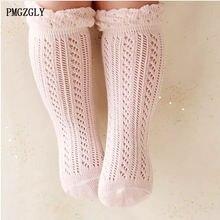 Носки для маленьких девочек От 0 до 5 лет хлопковые сетчатые Дышащие носки для новорожденных, летние гольфы из чистого хлопка для маленьких мальчиков