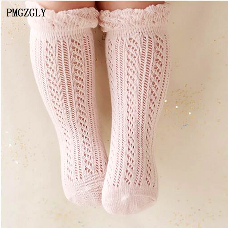 Baby Girl Socks 0-5 Year Toddler Baby Cotton Mesh Breathable Socks Newborn Infant Baby Boy Pure Cotton Summer High Knee Socks