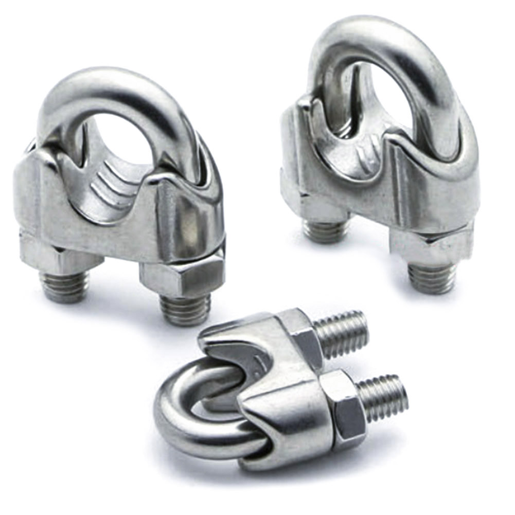 304 stainless steel wire rope chuck, clip head, U clip, steel wire ...