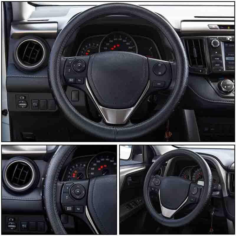 Δερμάτινο τιμόνι από γνήσιο δέρμα 38CM - Αξεσουάρ εσωτερικού αυτοκινήτου - Φωτογραφία 5