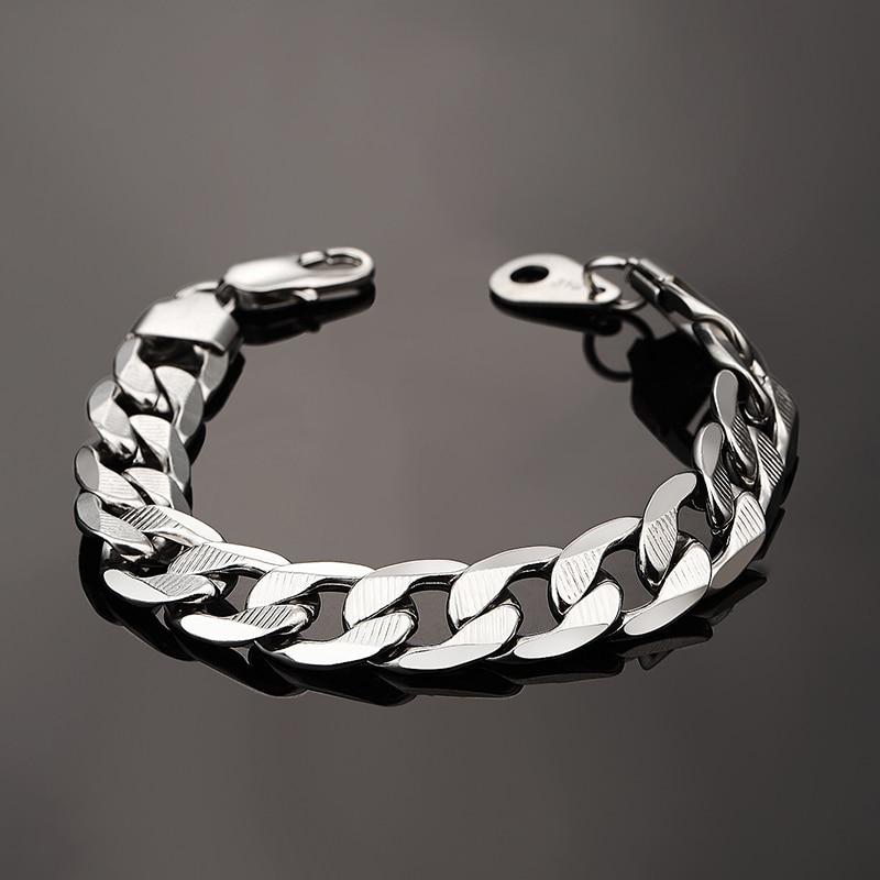 12 MM Männlichen Kandare Kubanischen Gliederkette Armband Für - Modeschmuck - Foto 6