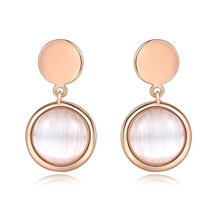 PISSENLIT Designer Earrings for Women Luxury Drop Jewelry pendientes mujer moda Korean Round rhinestone Earring