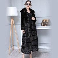 2018 New Winter Women Fur Coat Fashion Long Faux Mink Fur Coat Faux Fur Coat Thick Warm Full Sleeved Outerwear XHSD 360
