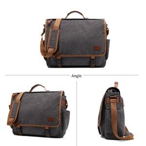 Image 2 - Vintage Canvas Briefcase Men Laptop Suitcase Travel Handbag Men Business Tote Bags Male Messenger Bags Shoulder Bag 2020 XA200ZC