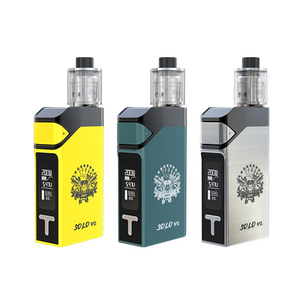 ФОТО E cigarette IJOY SOLO V2 200W Starter Kit with limitless sub ohm tank TC system supports NI TI stainless steel powerful vape