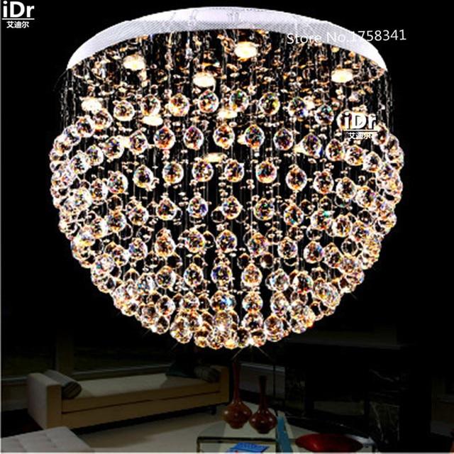US $674.0 50% di SCONTO|Soggiorno lampada LED lampade di cristallo  Lampadari moderni camera da letto minimalista lampada di illuminazione il  nuovo ...