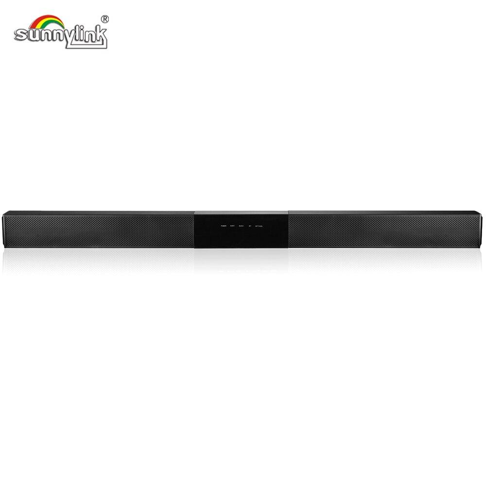 80Watts Aluminum Wireless Bluetooth Sound Bar for TV Super Slim 3D Sound TV Soundbar MaxxBass DSP