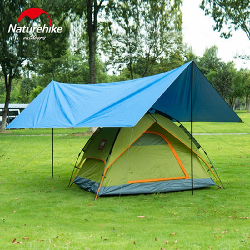 Naturehike Sun Shelter Waterproof Beach Tent Shade Tarp Camping Sunshade Gazebo Awning Canopy With Poles 4m3m2m In From Sports