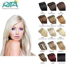 Clip In Virgin Hair Brazilian Straight Hair Clip In Human Hair Extensions 7pcs/set 19 Color Clip In Hair Extension 70g/set