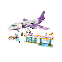701Pcs Heartlake friends aircraf Educational Building Blocks airbus Toys For Children Gifts City Girls Friends Airport Plane
