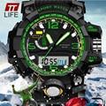 2016 мужские часы лучший бренд класса люкс relojes deportivos TTLIFE Многофункциональный Электронные Часы Моды для Мужчин Спортивные Наручные Часы