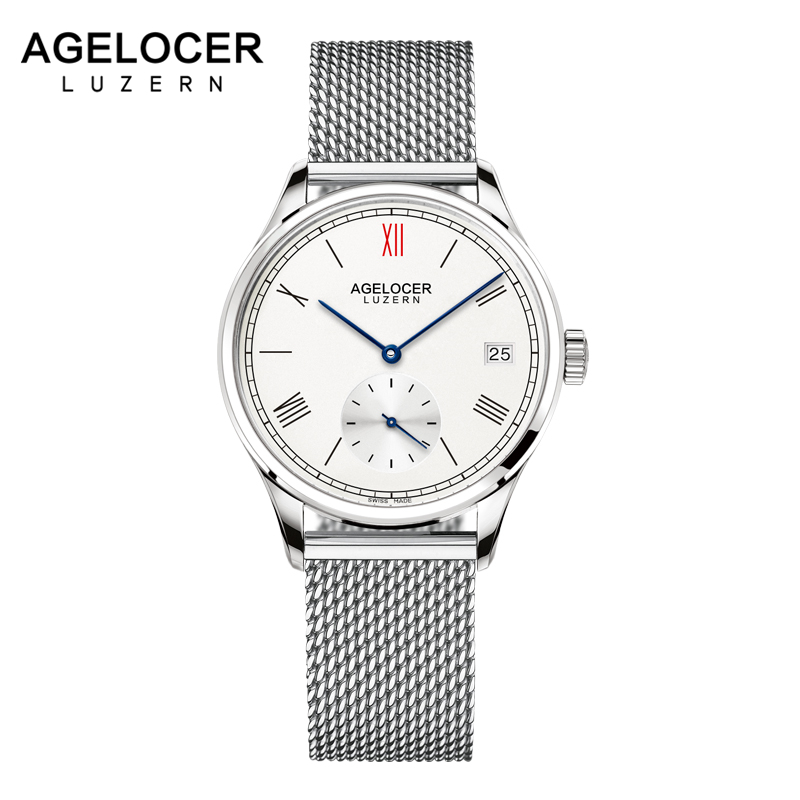 AGELOCER New Women Steel Watches Lady Dress Women Watch Automatic Swiss Luxury brand Bracelet Wristwatch ladies Mesh Clocks orkina new women rhinestone watches lady dress women watch diamond luxury brand bracelet wristwatch ladies crystal quartz clocks