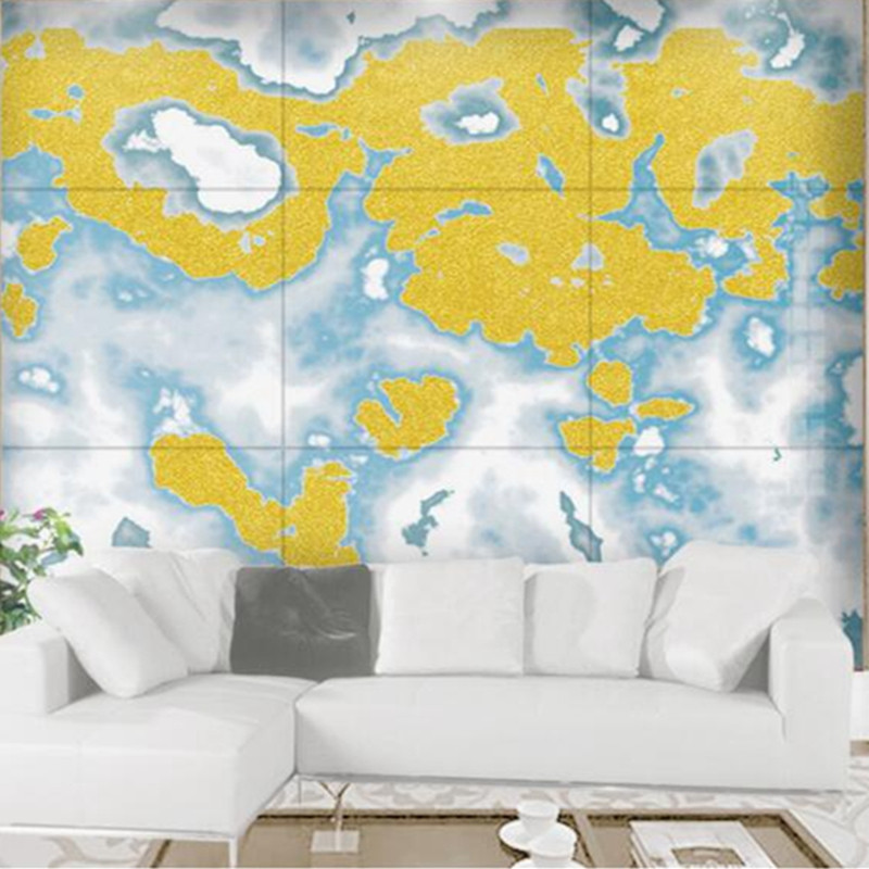 Custom Photo Wallpaper 3d Stone Wallpaper Chinese Ink Mosaic Marble ...