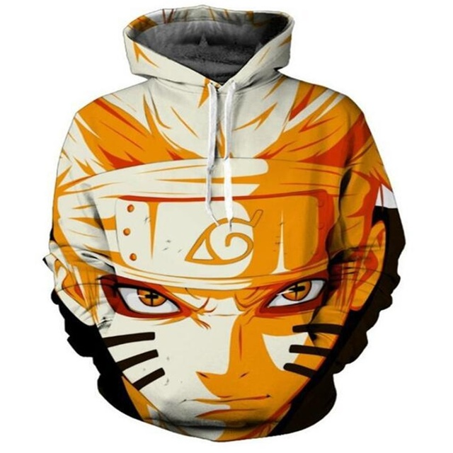 Digital 3D anime print fashion boutique unisex Naruto hoodie cool high quality men/women casual sport hooded sweatshirt pullover 3
