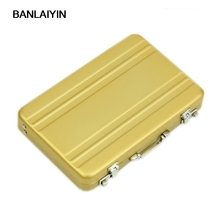 Aluminum Password Box Card Case Mini Suitcase Password Briefcase