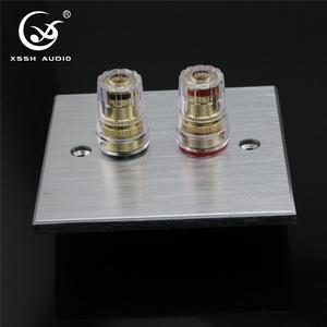 Image 5 - 1 set XSSH Audio Hi End Gold Plated Amplifier Speaker Terminal Female Long Short Version Including Binding Post and Plate Socket
