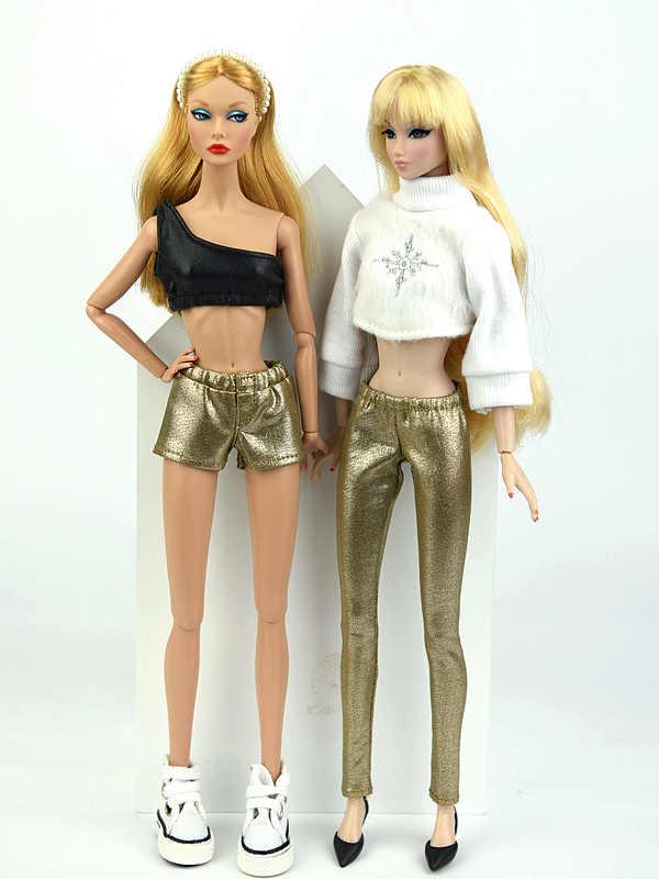 Nowe style srebrne akcesoria na co dzień krótkie spodnie długie spodnie dla BB 1:6 lalki BBIA61