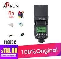 Godox TT685C Speedlite TTL de Alta Velocidade De Sincronização Externa Para O Flash Canon 6D 7D 60D 50D 600D 1100D 1000D 500D|godox tt685c|for canon|speedlite ttl -