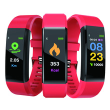 115 plus Smart Band Heart Rate Monitor Fitness tracker Bracelet IP67 waterproof Bluetooth Passometer for android IOS