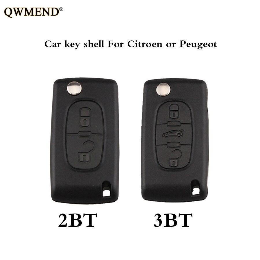 QWMEND 2 3 Buttons Car Remote Key shell Case For Citroen or Peugeot CE0536 Model HU83/VA2 optional NO logoQWMEND 2 3 Buttons Car Remote Key shell Case For Citroen or Peugeot CE0536 Model HU83/VA2 optional NO logo
