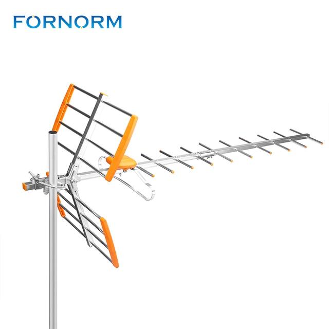 هوائي تلفاز رقمي عالي الدقة من Powstro لـ HDTV DVBT/DVBT2 470 MHz 860 MHz هوائي تلفاز خارجي رقمي مضخم HDTV