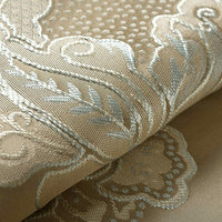 Jacquard Luxury Curtains For Bedroom Blinds Drapes Beige Embroidered Flower Window Curtains For Living Room Cream High Shading