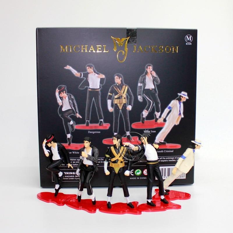 5pcsset 11cm Michael Jackson PVC Action Figure MJ Collection Model Toy