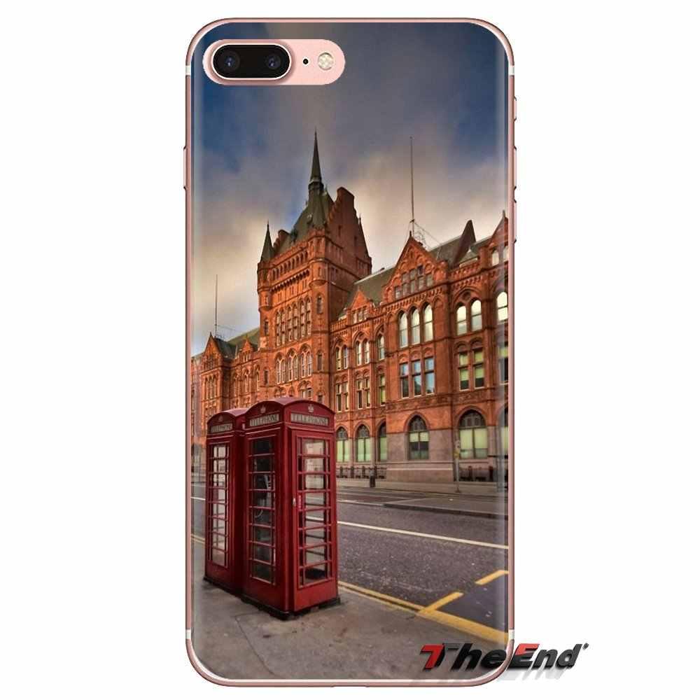 Pour Huawei G7 G8 P7 P8 P9 P10 P20 P30 Lite Mini Pro P Smart Plus 2017 2018 2019 rouge cabine téléphonique boîte étui en Silicone