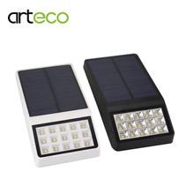 2PCS Ultra Thin Solar Light 15LED Solar Lamp Radar Microwave sensor/Light Sensor Outdoor Garden Path Security Solar Wall Light
