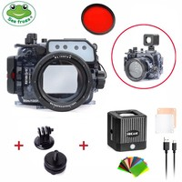 Seafrogs 60m/195ft Underwater Camera Waterproof For Sony RX100/RX100 II/RX100 III/RX100 IV/RX100 V+Waterproof LED Light