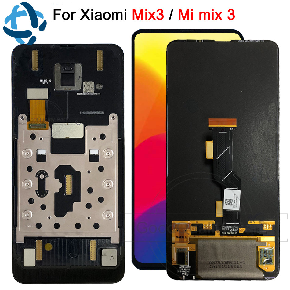 Origian Amoled For Xiaomi Mi Mix 3 LCD Display Touch Screen Digitizer Assembly With Frame mi
