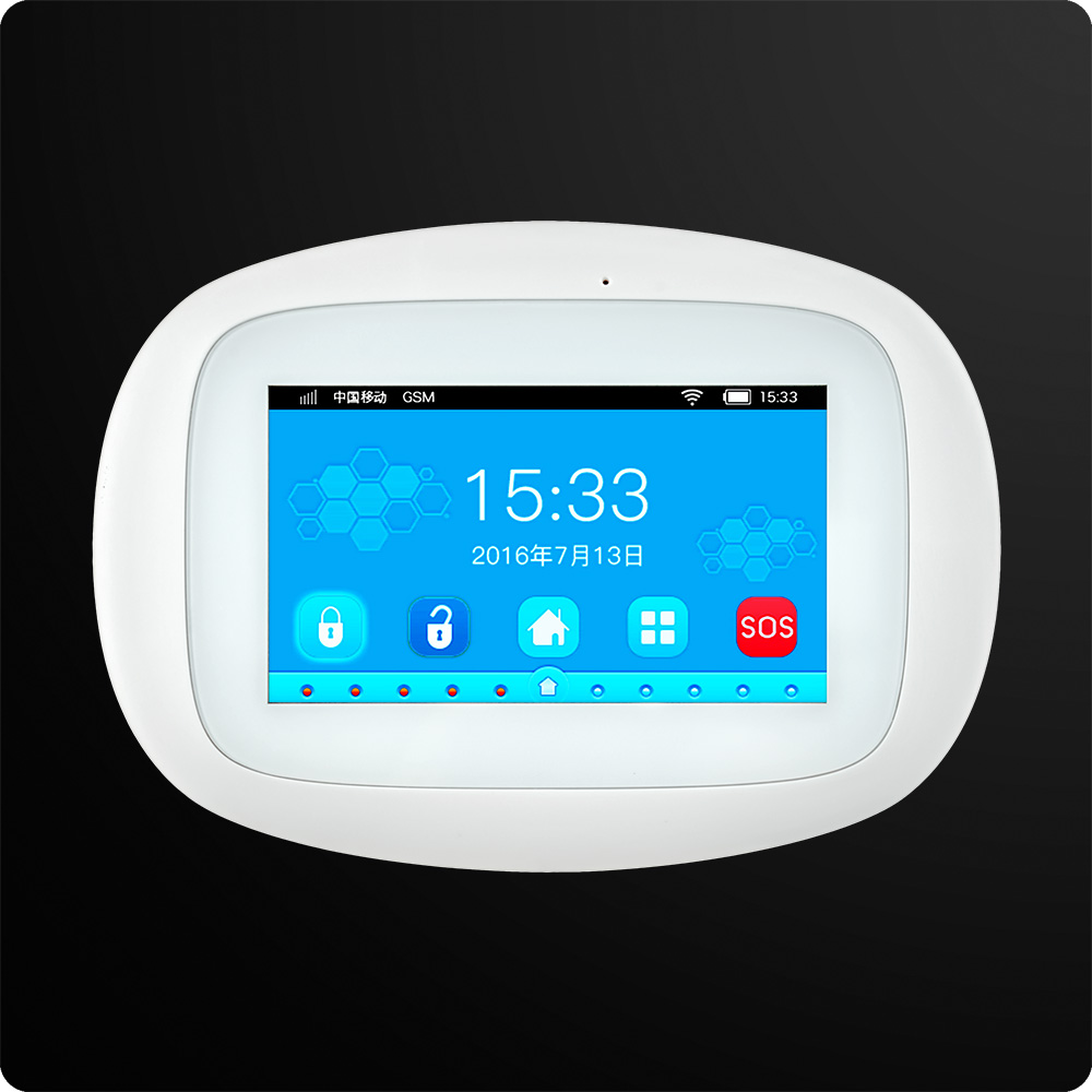 KERUI K52 WiFi Alarm System 4.3 Inch Touch Screen Wireless Security Alarm WIFI GSM Alarm System APP Control PIR Repeater 1
