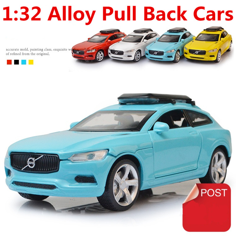 1:32 Alloy Car Models,the Volvo XC High Simulation Model,metal Casting,toy Vehicles,pull Back&flashing& Musical,free Shipping