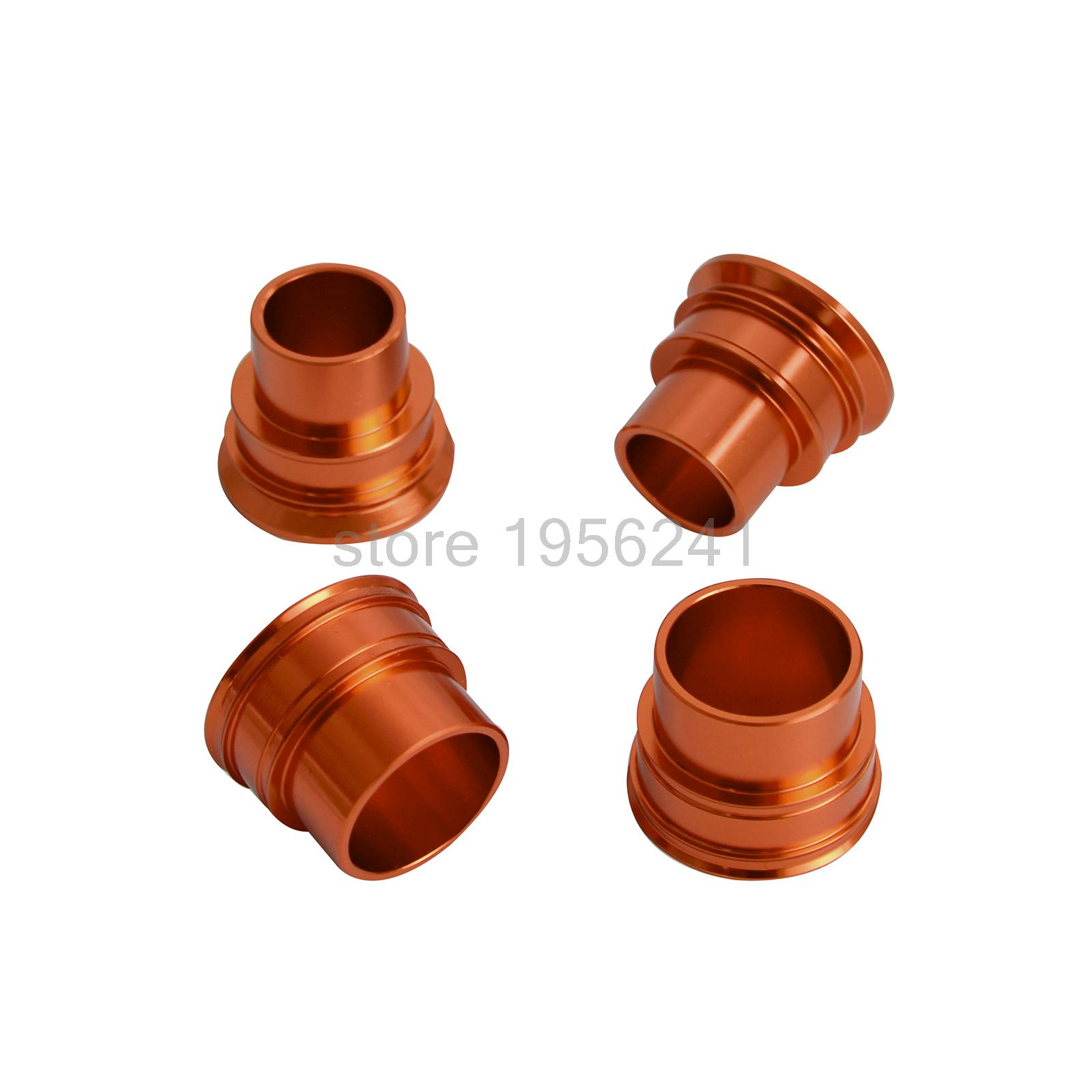 CNC Front and Rear Wheel Spacers/ Hub Collars For KTM 125 250 300 350 400 450 525 530 SX SXF XCF 2003 - 2014 2006 2008 2010 billet rear hub carriers for losi 5ive t