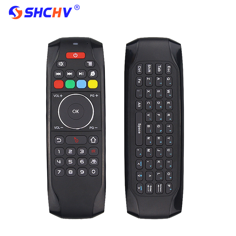 2.4Ghz Air Mouse IR Learning Remote Control Gyroscope Mini Keyboard for Windows Mac OS Android TV Box Projector HTPC PC Tablet