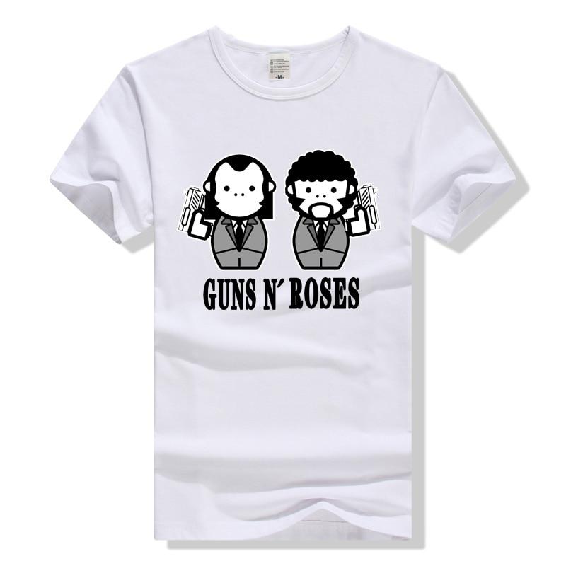 TEEWINING Guns N Roses Cartoon T Shirt Rock Band Tee Men Women Unisex T-Shirt Guns and Roses GNR Tshirt Rock Theme Clothing