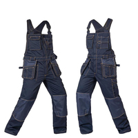 High Quality Men Female Overalls Durable Mechanic Security Workwear Multi pocket Grey Trousers Wear resistant Working Pant