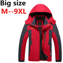 Men plus Size XXXL Ali 5XL 6XL 7XL 8XL Jacket 2016 New Arrival Male Hooded Windbreaker Coat large size big size loos