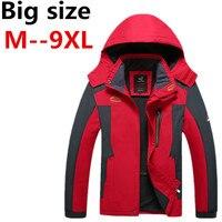 Men Plus Size XXXL Ali 5XL 6XL 7XL 8XL Jacket 2016 New Arrival Male Hooded Windbreaker